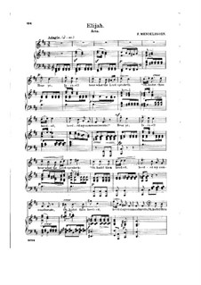 Elijah, Op.70: Hear Ye, Israel!, for soprano and piano by Felix Mendelssohn-Bartholdy