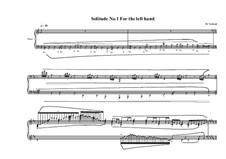 3 Solitudes for the left hand: No.1, MVWV 808 by Maurice Verheul
