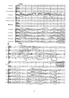 Concerto for Piano and Orchestra No.1 in D Minor, Op.15: Movement II by Johannes Brahms