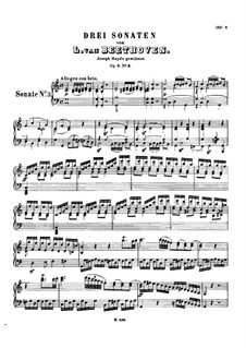 Three Sonatas for Piano, Op.2: Sonata No.3 by Ludwig van Beethoven