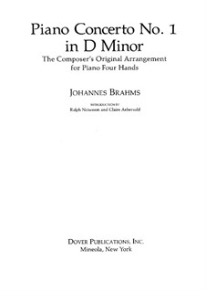 Concerto for Piano and Orchestra No.1 in D Minor, Op.15: Version for piano four hands by Johannes Brahms