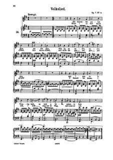 Six Songs, Op.7: No.4 Volkslied (Folk Song) by Johannes Brahms