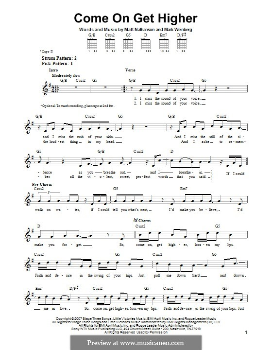 Come On Get Higher: For guitar with tab by Mark Weinberg