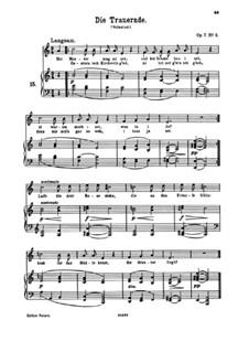 Six Songs, Op.7: No.5 Die Trauernde (The Mourner) by Johannes Brahms