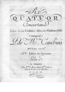 Six String Quartets, Op.29: Violin II part by Giuseppe Maria Cambini