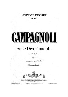 Seven Divertissements, Op.18: For viola by Bartolomeo Campagnoli