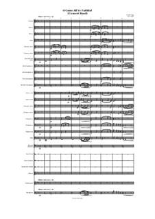 O Come, All Ye Faithful (Adeste Fideles): For concert band by John Reading