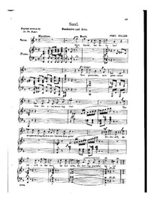 Saul: Recitative and Aria 'They Fled, the Gloomy Powers' by Ferdinand von Hiller