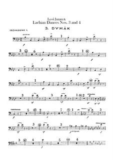 Lašské tance (Lachian Dances), JW 6/17: Dances No.3-4 – trombones parts by Leoš Janáček
