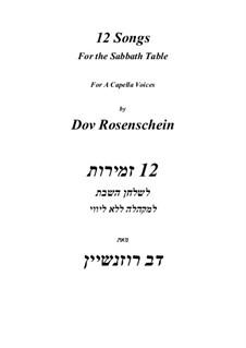 12 Sabbath Songs: 12 Sabbath Songs by Dov Rosenschein