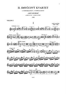String Quartet No.2 'Listy důvěrné' ('Intimate Letters'), JW 7/13: Violin I part by Leoš Janáček