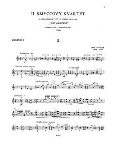 String Quartet No.2 'Listy důvěrné' ('Intimate Letters'), JW 7/13: Violin II part by Leoš Janáček