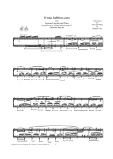 O mio babbino caro: For piano, CSPG18 by Giacomo Puccini