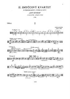 String Quartet No.2 'Listy důvěrné' ('Intimate Letters'), JW 7/13: Viola part by Leoš Janáček