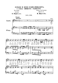 I cieli immensi narrano: Piano-vocal score by Benedetto Marcello
