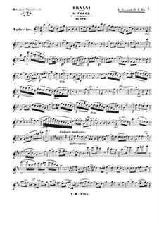 Die Junge Opernfreund. No.25 Ernani von G. Verdi, Op.61: Flötenstimme by Leopold Jansa