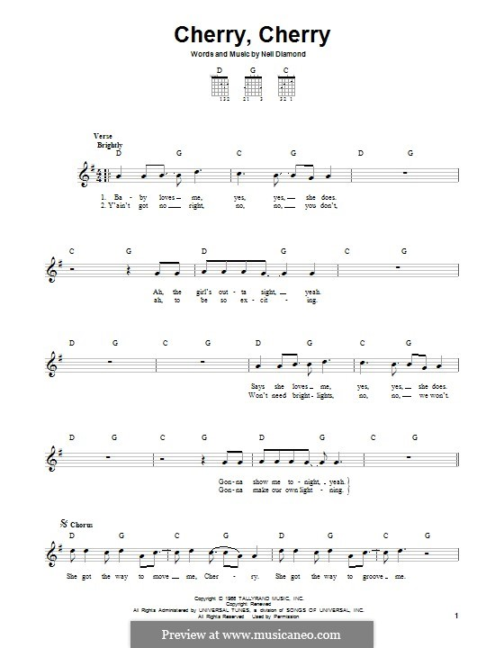 Cherry, Cherry: For guitar with tab by Neil Diamond