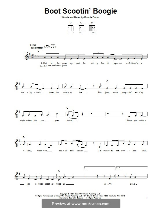 Boot Scootin' Boogie (Brooks & Dunn): For guitar with tab by Ronnie Dunn