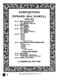 Two Fantastic Pieces , Op.17: Piece No.2 by Edward MacDowell