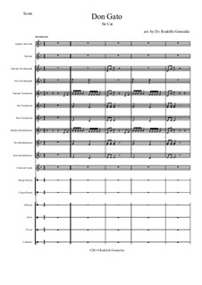 Don Gato: For orff ensemble by folklore