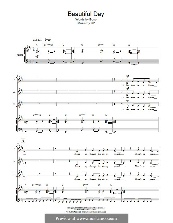 Beautiful Day: For mixed choir by U2