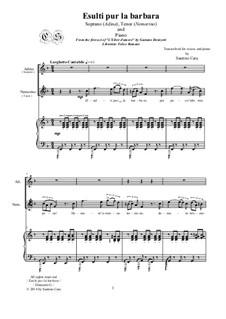 L'elisir d'amore (The Elixir of Love): Esulti pur la barbara, for soprano, tenor and piano, CSDG5 by Gaetano Donizetti
