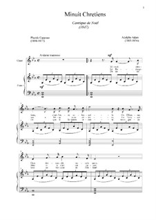 O Holy Night (Piano-vocal score): For voice and piano (E Flat Major) by Adolphe Adam