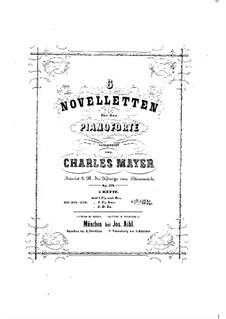 Six Novelettes, Op.179: For piano by Charles Mayer
