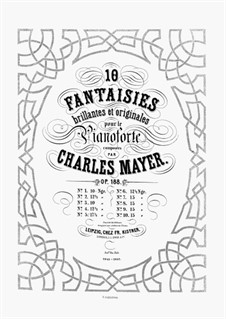 10 Fantaisies Brillantes et Originales, Op.188: No.8 by Charles Mayer