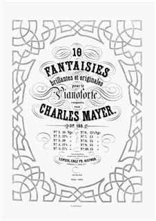 10 Fantaisies Brillantes et Originales, Op.188: No.10 by Charles Mayer