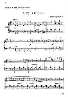 25 Kleinen Etüden, Op.340: Etude Nr.13 by Charles Mayer