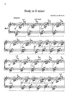 25 Kleinen Etüden, Op.340: Etude Nr.15 by Charles Mayer