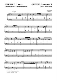 Quintet: Movement II - piano adaptation by Alexander Bystrov