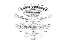 Three Piano Sonatas, Op.1: Sonata No.3 by Friedrich Kalkbrenner