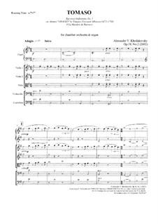 Tomaso, Op.38 No.2: Tomaso by Alexander Khodakovsky