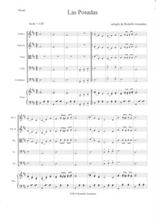 Las Posadas: For string orchestra and piano by folklore