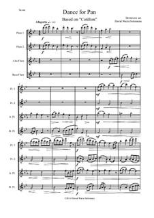 Dance for Pan (Cotillion): For flute quartet by Jean Hotteterre