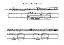 3 Sonatina's for Alto saxophone and piano: Sonatina No.3, MVWV 542 by Maurice Verheul