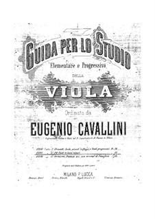 Viola Method: Book II Twenty-Four Studies in Minor Keys by Eugenio Cavallini