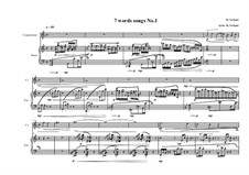 7 words song for countertenor and piano: Song No.1, MWVW 316 by Maurice Verheul