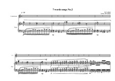 7 words song for countertenor and piano: Song No.2, MVWV 317 by Maurice Verheul