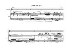 7 words song for countertenor and piano: Song No.5, MVWV 320 by Maurice Verheul