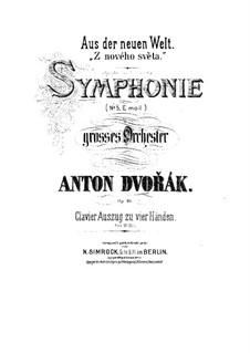 Complete Symphony: Version for piano four hands by Antonín Dvořák