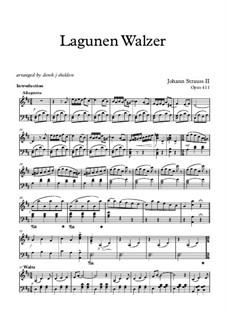 Lagunen Walzer (The Lagoon Waltz), Op.411: Lagunen Walzer (The Lagoon Waltz) by Johann Strauss (Sohn)