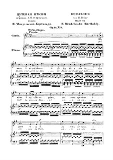 Six Songs, Op.34: No.6 Reiselied (Travelling Song) by Felix Mendelssohn-Bartholdy