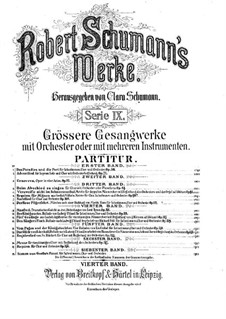 Manfred, Op.115: Full score by Robert Schumann