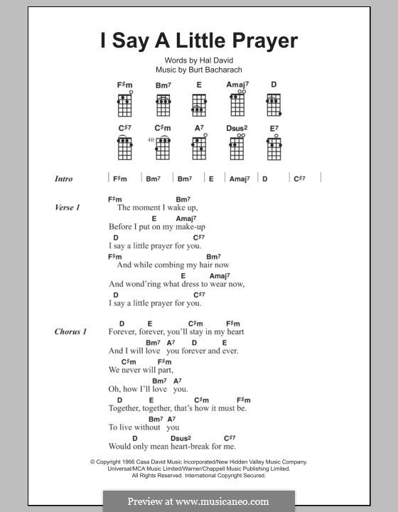 I Say a Little Prayer: For ukulele by Burt Bacharach