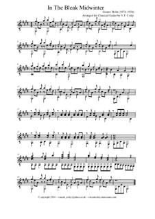 In the Bleak Midwinter: For classical guitar by Gustav Holst