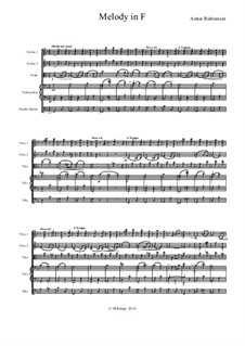 Two Melodies, Op.3: Melody No.1, for string orchestra by Anton Rubinstein