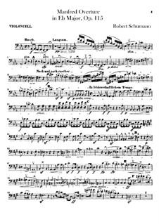 Manfred, Op.115: Overture – cello part by Robert Schumann